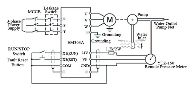 Vfd For Constant Pressure Water Supply on wiring a potentiometer for motor